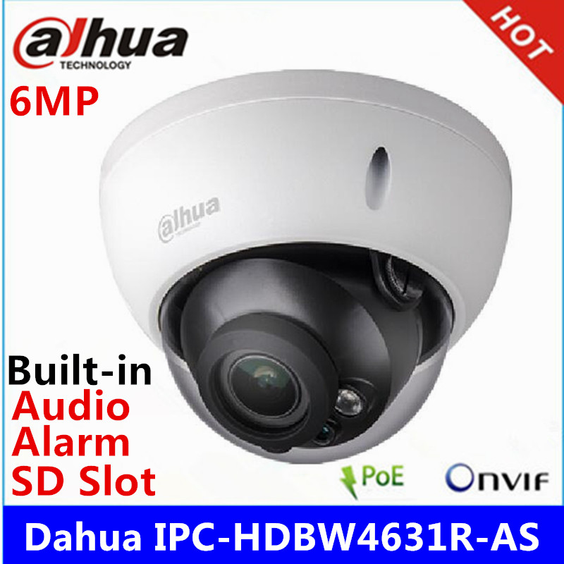 Video Surveillance Apprehensive Dahua Ipc-hdbw4631r-as 6mp Ip Camera Ik10 Ip67 Ir30m Built-in Sd Card Audio And Alarm Interface Replace Hdbw4431r-as Poe Camera As Effectively As A Fairy Does