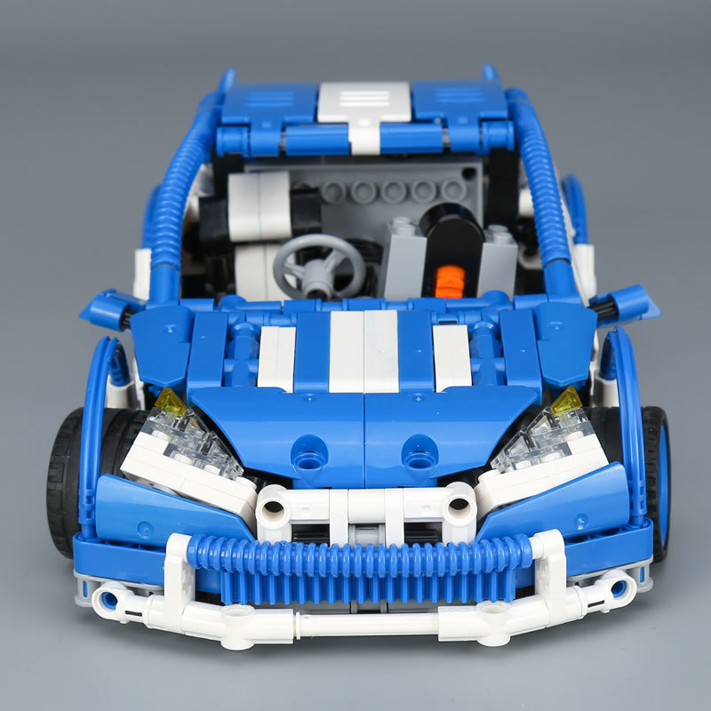 Decool  Lepin Technic 20053 motor Series Hatchback Type RC Car MOC-6604 Building Block Children Remote Control Car Brick technican technic 2 4ghz radio remote control flatbed trailer moc building block truck model brick educational rc toy with light