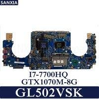 KEFU GL502VS Laptop motherboard for ASUS GL502VSK GL502VS GL502V GL502 Test original motherboard I7 7700HQ GTX1070M 8G