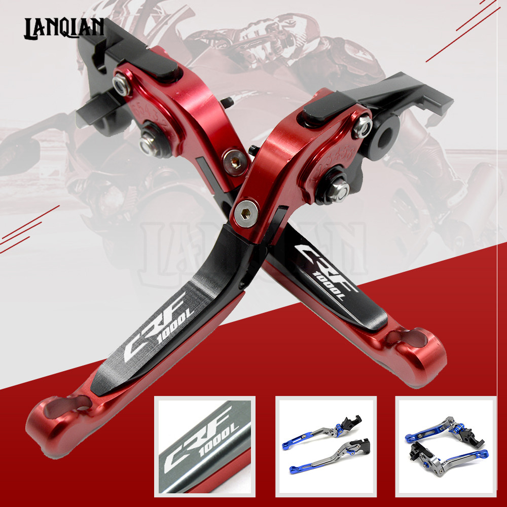 Hot CNC Motorcycle Adjustable Folding Brake Clutch Lever For Honda Africa Twin CRF 1000L 2015 2018