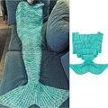 2017 Hot Sale Mermaid Blanket , Sleeping Bag , Pattern Crochet Mermaid Tail , Knitted Mermaid Tail Blanket For Adult Child