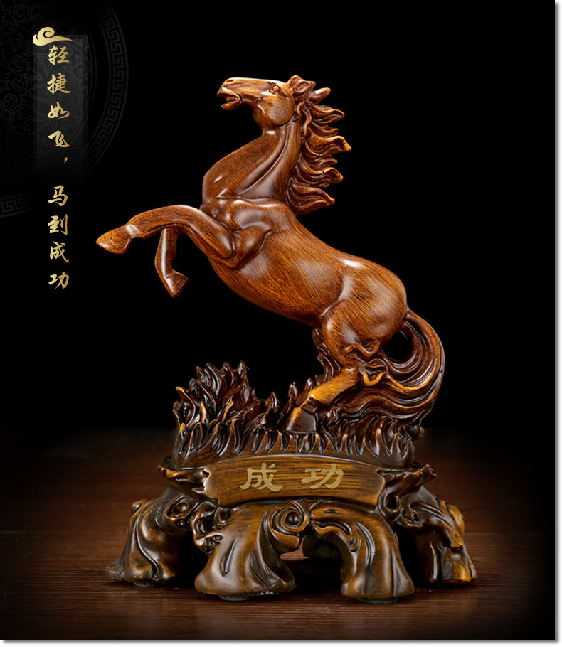 TOP COOL  2019 business office Ornament efficacious Success FENG SHUI Talisman Protection Inviting money HORSE  ART Sculpture-in Statues & Sculptures from Home & Garden    1