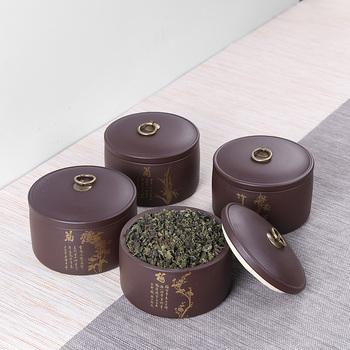 Contenedor de té negro dorado, vajilla de cocina, porcelana, té, Caddy, botellas...