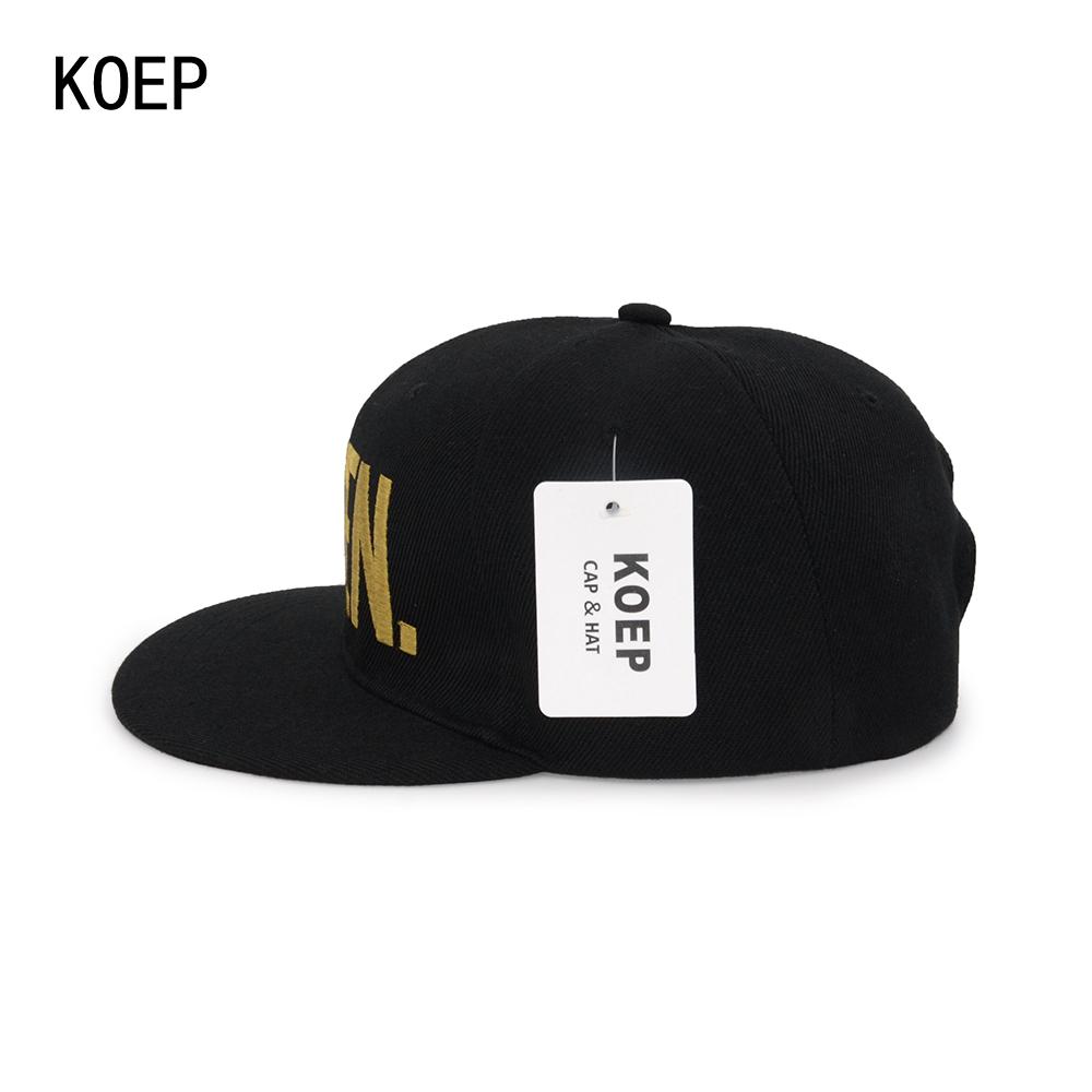 black snapback hat KOEP®-HHC-17-GQ-4