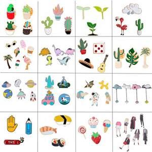 403fc197d729 Hoomall Brooches Cartoon Badges for Clothing Kawaii Pin