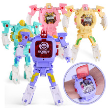 Children Creative Wristwatch Toy Deformation Electronic Robot Watch Toys gifts f
