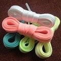 Люминесцентные Светящиеся Шнурки Для Мужчин и Женщин 120 см 140 см Две Пары набор Спортивной Спортивные Плоские Шнурки HSF23-2