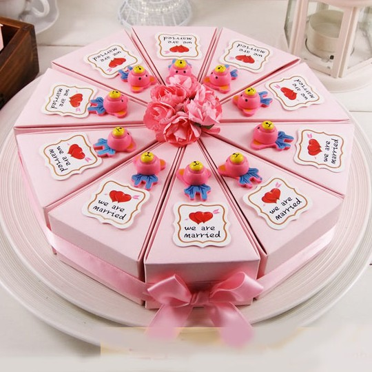 Dia 22cm Pink Cake Design Creative Empty Candy Boxes DIY