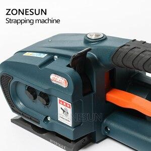 Image 2 - ZONESUN מכונת 13mm 16mm PET/ PP פלסטיק רצועות סוללה מופעל 4.0A/12V ג וינט גלישת מכונת עם 2 סוללות