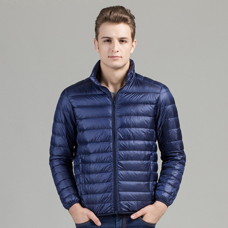 Down Jackets Plus Size Ultra Thin Lightweight Slim Mens Down Jacket Men Hooded Short Design White Duck Down Jackets 2017 Autumn Winter Attractive Fashion