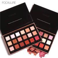 FOCALLURE 18 Colors Eyeshadow Palette Matte Diamond Glitter Matallic Eye Shadow In One Palette Blush Makeup