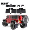 INJORA TRX4 радиоуправляемая Автомобильная Передняя и задняя Брызговики  резиновое крыло для 1/10 радиоуправляемого гусеничного Traxxas Trx-4