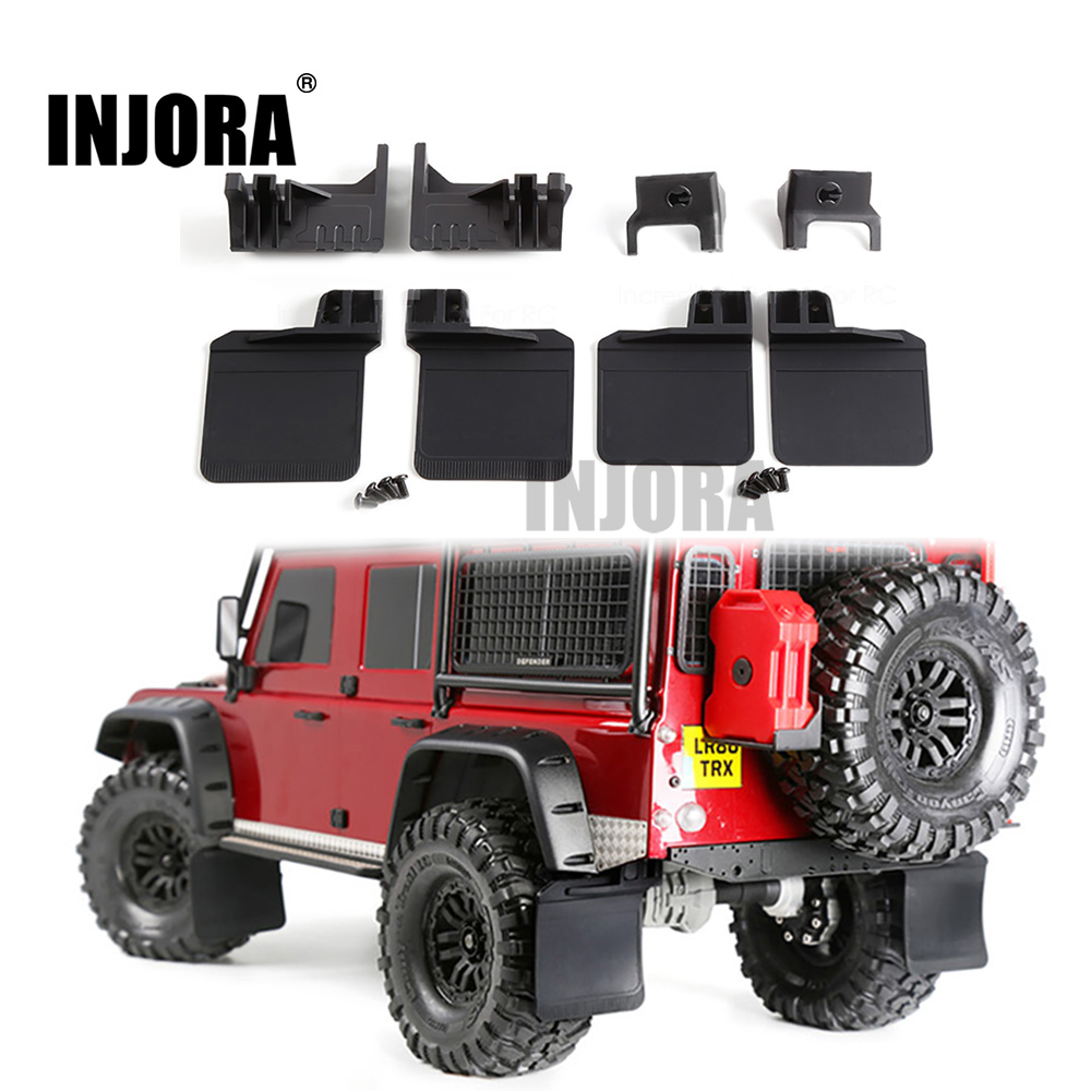 INJORA TRX4 RC Car Front & Rear Mud Flaps Rubber Fender For 1/10 RC Crawler Traxxas Trx-4