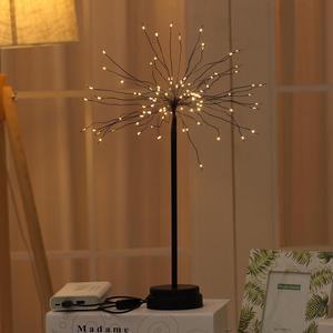 HobbyLane LED Solar Dandelion Shape Copper Wire Fireworks Night Light for Christmas Decoration