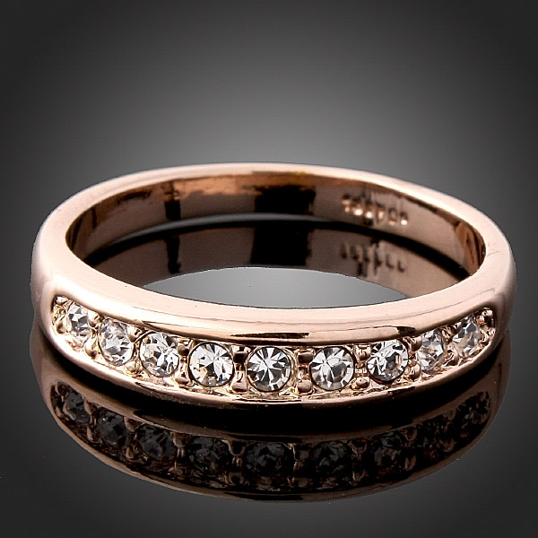 simple circle finger ring for women 2016 wedding lady jewelry gold-color ring gift party design 6 7 8 9 in stock drop shipping
