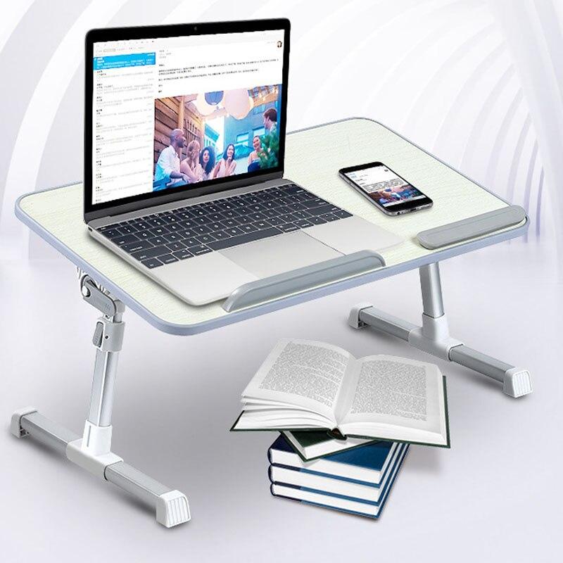 Nouveau Style table ajustable pour d'ordinateur Portable avec Ventilateur De Refroidissement Portatif Lit Bureau Pliable Canapé Plateau Petit-Déjeuner GY88