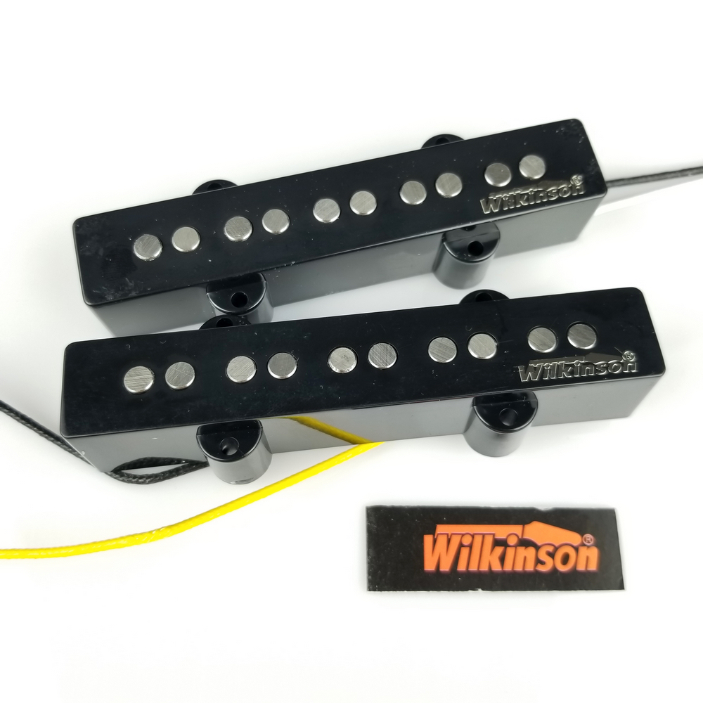 Wilkinson Vintage Style 5 string JB electric bass pickups five string jazz bass pickups WBJ5N+WBJ5B Made in Korea yibuy 1 set of 4 string sealed pickups for jb bass guitar