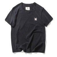2018 летняя футболка с коротким рукавом Мужская свободная пара с коротким рукавом Корейская версия прилив одежды нижняя рубашка