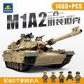 1463 unids Siglo 2en1 Militar M1A2 Abrams Tanque Cañón Deformación hummer car Building Blocks Juguetes Compatible con Legoe Militar