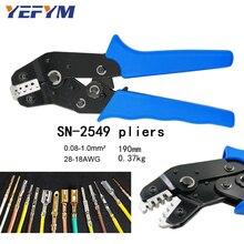 Alicates de engarzado YEFYM SN 2549 0,08 0.1mm2 28 18AWG 2,54 terminal de resorte 2510 = SN 28B + SN 01BM herramientas de engarzado de alambre estilo eupop