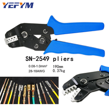 Yefym SN 2549 Pinze di Piegatura 0.08 0.1mm2 28 18AWG 2.54 Primavera 2510 Terminale = SN 28B + SN 01BM Eupop Stile Wire Crimp strumenti