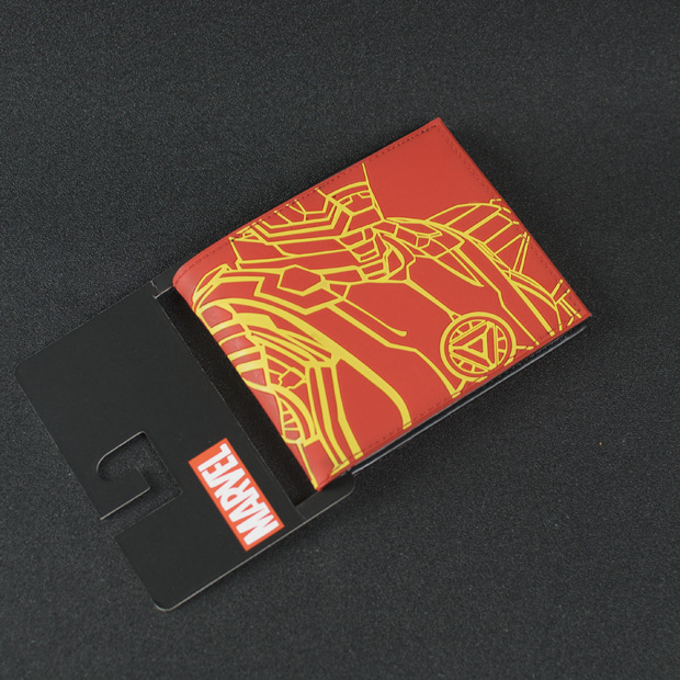 DC Marvel Comics PVC Bags Ironman Wallet Men European America Style Anime Purse Red portefeuille homme Wallets cartera dc marvel comics men pvc wallet captain america anime cartoon purse card money bags male leather wallets
