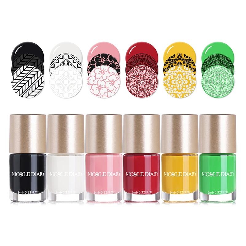NICOLE DIARIO Estampado de Uñas Polaco de Agua Serie Perla A Base de - Arte de uñas