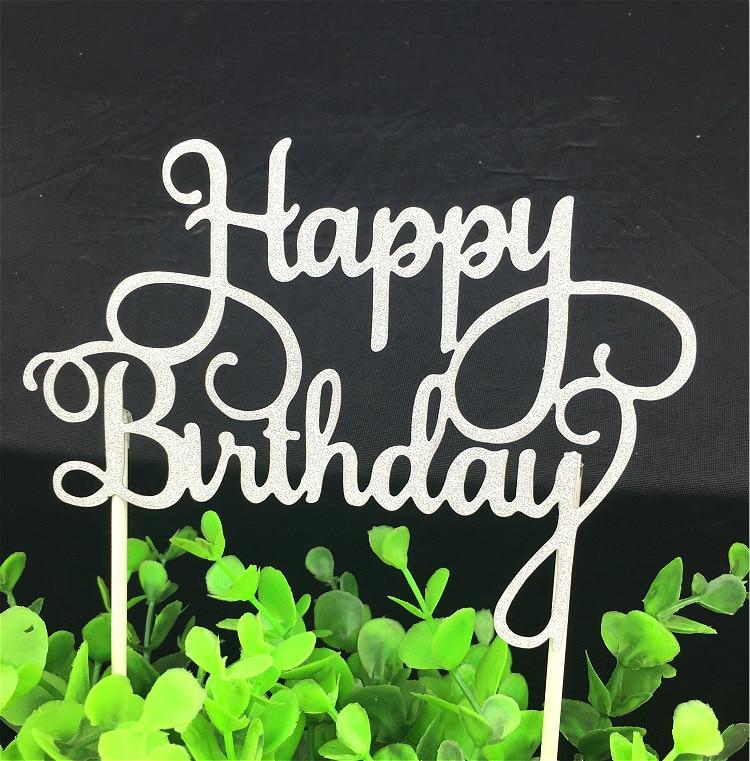 1 дана креативті торт топпер Туған - Мерекелік және кешкі заттар - фото 4