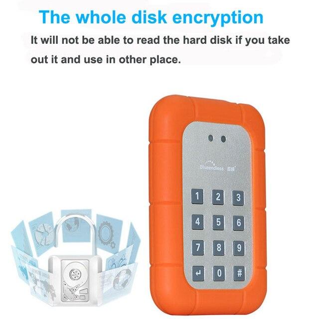 """Caixa Dongle criptografia usb3.0 HDD de 2.5 polegadas 2.5 """"SSD gabinete com chave função de proteger os dados pessoais informações"""