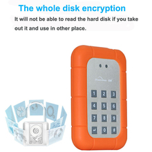 usb3.0 2.5inch HDD encryption Box Dongle 2.5″SSD enclosure with key function protect you personal data information
