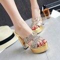 Туфли летние женские тапочки платформы сандалии на высоких каблуках сандалии моды женские прохладно тапочки sy-2039