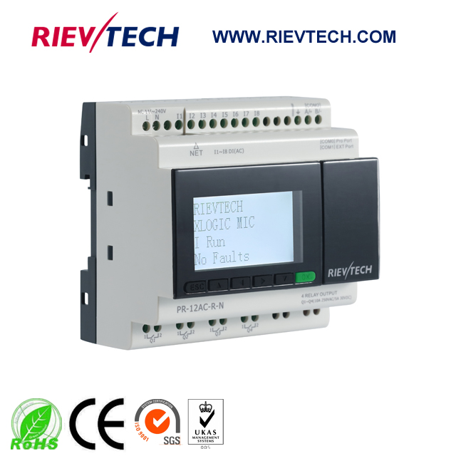 New Ethernet PLC,ideal Solution For Remote Control&monitoring&alarming Applications,Built-in Ethernet Capability PR-12AC-R-N