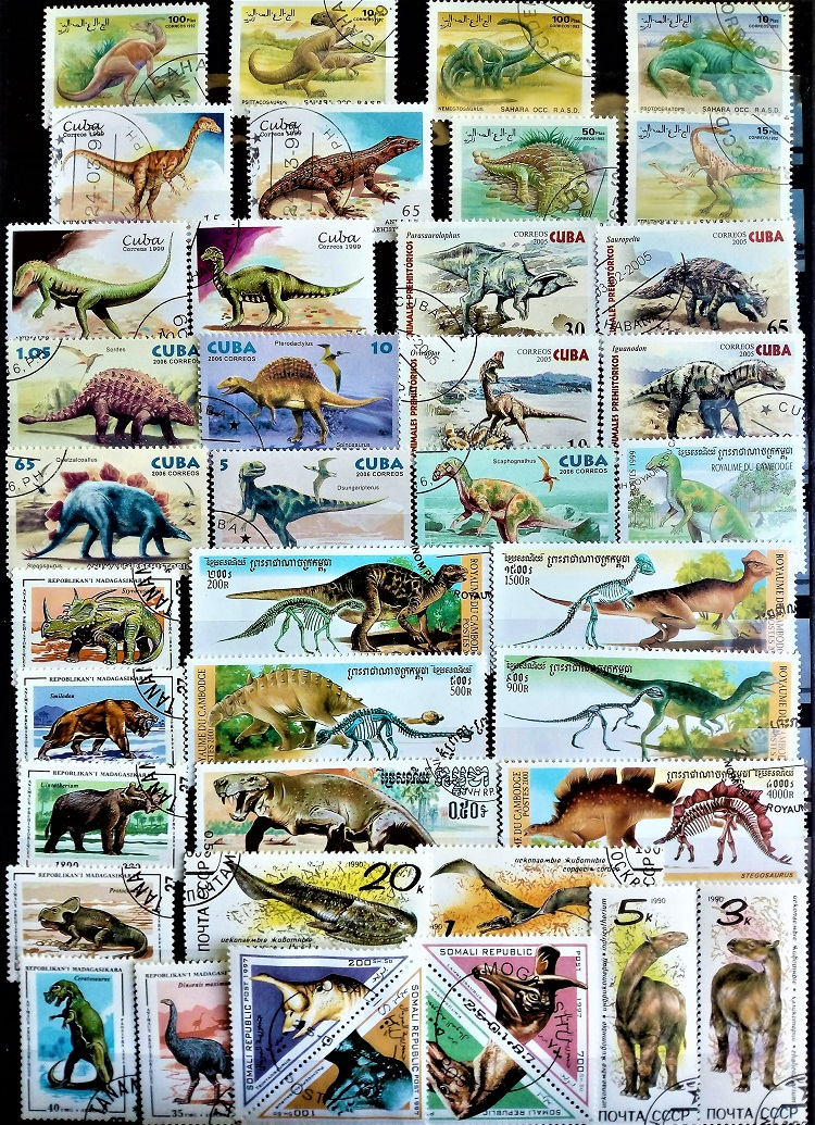 50Pcs/Lot Prehistoric Dinosaurs Stamps All Different From Many Countries NO Repeat Unused Marked Postage Stamps For Collecting