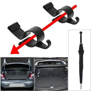 Image 2 - FORAUTO 2pcs Umbrella Holder Clip Hooks Auto Trunk Organizer Car Rear Trunk Mounting Bracket Towel Hook Umbrella Hanging Clamp