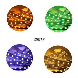 Image 5 - Bande lumineuse 12/24V, PCB 5M 4 en 1 5 en 1 RGB + CCT LED, 5050 60led s/m, 5 couleurs en 1 puce CW + RGB + WW RGBW WW flexible Led