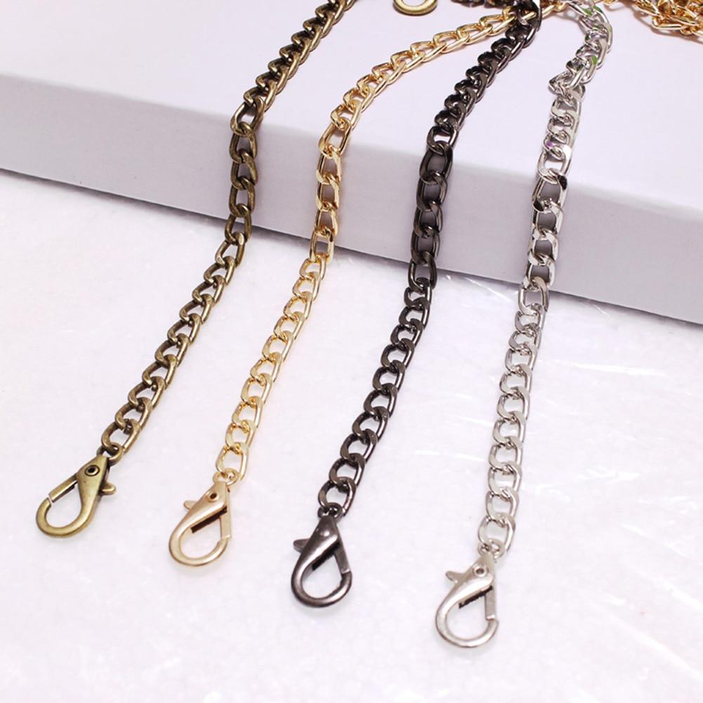 120cm Handbag Metal Chains For Bag DIY Purse Chain With Buckles Shoulder Bags Straps Handbag Handles Bag Parts & Accessories