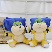 2018 New Super Mario Bowser Bros 2Styles Ludwig Von Koopa With Blue Turtle Shell Stuffed Plush Toy Tag 820cm Free Shipping