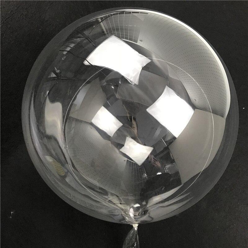 1 PC Bobo de Hélio Balões de Aniversário Balão De Festa Decoração de Balões de Ar de PVC Transparente Decoração Do Casamento Favorece 10/18/ 20/24/36 Polegada