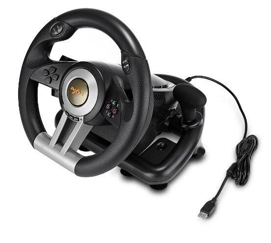 PXN V3II volant de jeu de course avec pédale pliable Compatible avec PC PS3 PS4 Xbox One 7 ventouses puissantes