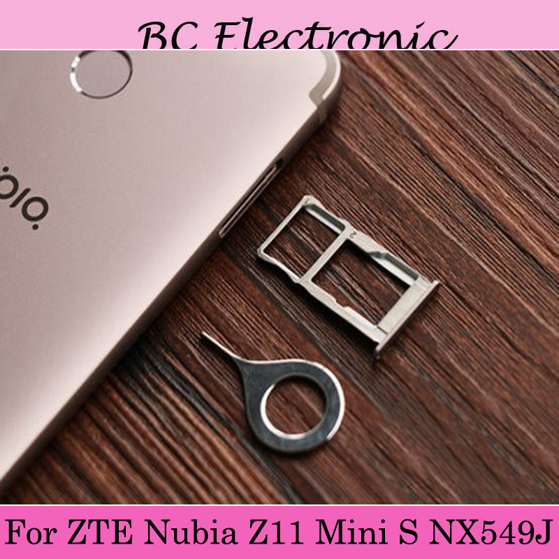 For ZTE Nubia Z11 Mini S Minis NX549J NX 549J Nano Sim+Micro SD Card Tray Holder Slot Socket Replacement Parts