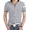 2017 Polo Shirt Men Fashion Short Sleeve Cotton Striped Slim Fit camisa polo masculina Plus Size 5XL Polo Shirt Brand Clothing