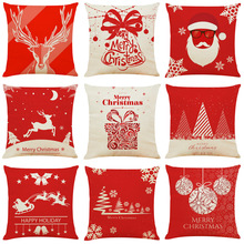 Merry Christmas Decoration Pillow Case Xmas Happy New Year Decorations For Home 2019 Navidad Ornaments