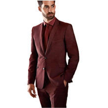 The Latest men suits fashio Groom suits Tuxedos Notch Lapel  Men Wedding Prom Party Suits Best Man Suit custom (Jacket+Pants)