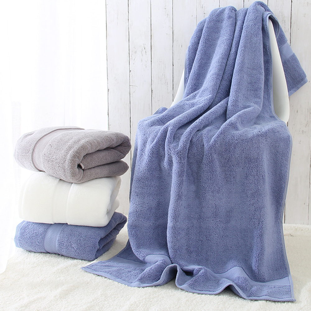 100% Organic Cotton bath towel Quick Dry bathroom towel Machine Washable microfiber towel Plain Dyed shower towel