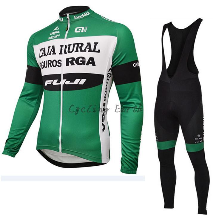 ALE FUJI CAJA RURAL 2016 long sleeve <font><b>autumn</b></font> cycling clothes cycle cycling jersey bib pants bicycle kit ropa maillot ciclismo