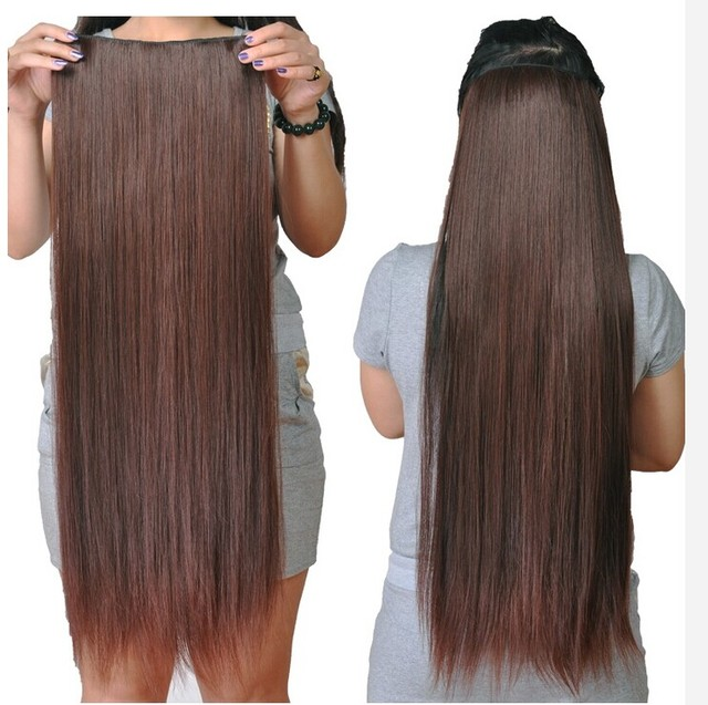 Clip In Hair Extension Cheap Long Straight Synthetic Ponytail Hair
