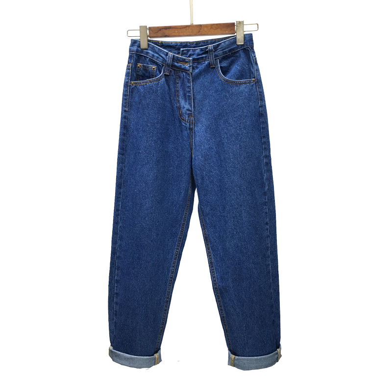 b526647e Women Casual Jeans High Waist Ankle Length Jeans Vintage Dark blue / Light  blue / Black Mom Jeans 0124 69-in Jeans from Women's Clothing on  Aliexpress.com ...