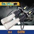 60 W H4 H4-3 Bombilla LED 6400LM 6500 K Blanco Fresco Hi/Lo Beam Faro Moto Coche 1 Par