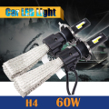 60W H4 H4-3 LED Bulb 6400LM 6500K Cool White Hi/Lo Beam Car Motorcycle Headlight 1 Pair