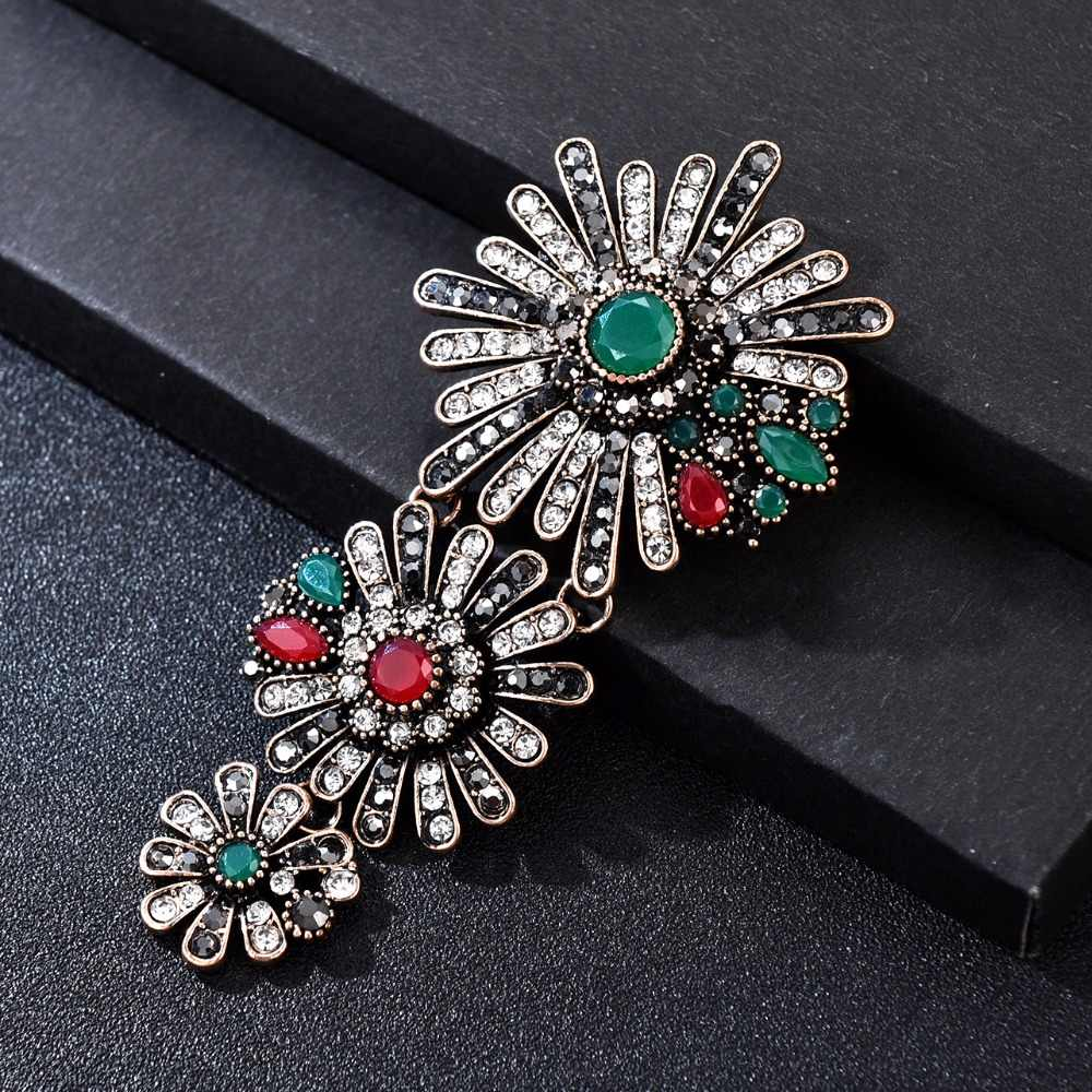 85089c80944 Detail Feedback Questions about Luxury Vintage Big Daisy Flower Brooch Pins  Woman Men Jewelry Accesoires Suit Hijab Brooches for Women Clothing Broche  ...